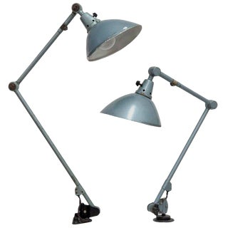 1920s Curt Fischer for Midgard Task Lamps - a Pair For Sale