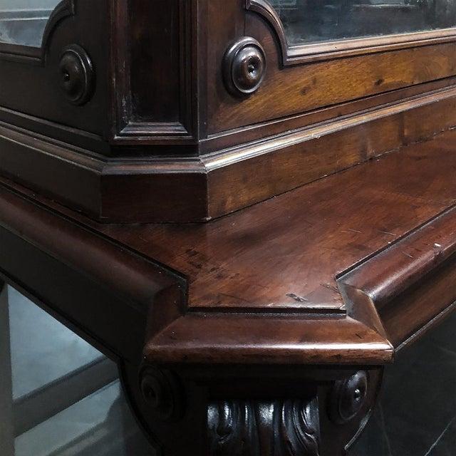 19th Century French Napoleon III Period Mahogany Bookcase ` Vitrine For Sale In Dallas - Image 6 of 11