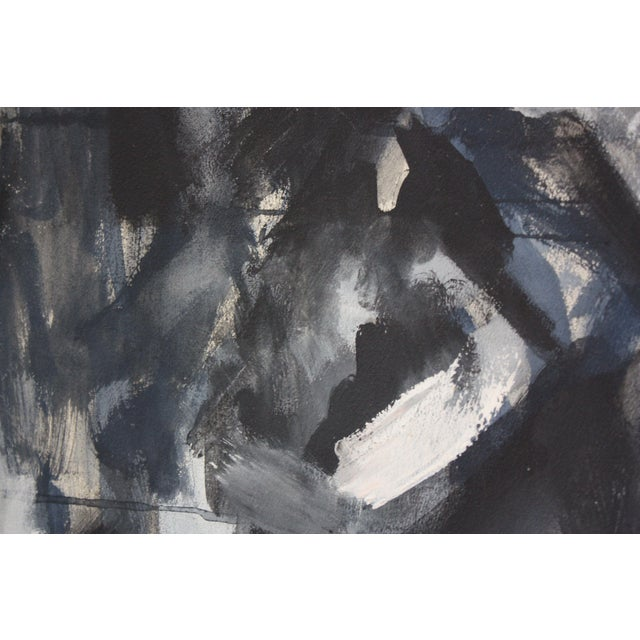 1960s Abstract 'Aspen' Gouache on Board by Elizabeth Nachman Erlanger For Sale - Image 5 of 13