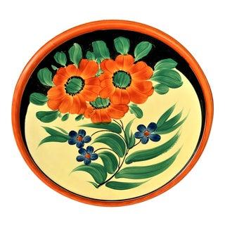 Vintage Czechoslovakian Hand Painted Plate For Sale