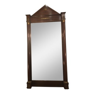 French Empire Mirror With Columns and Bronze Doré Accents For Sale