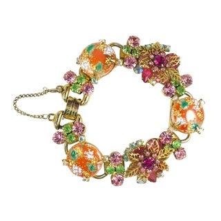 Orange, Green, and Pink Juliana Bracelet For Sale