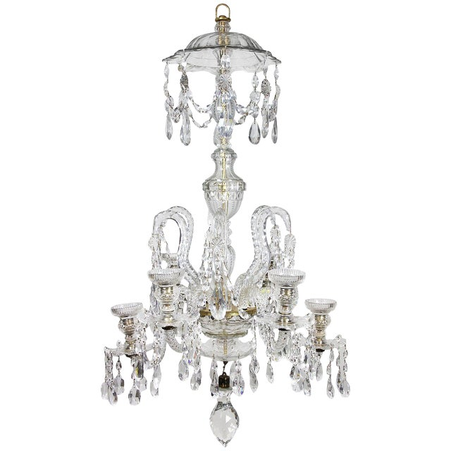 Anglo-Irish Cut-Glass Chandelier For Sale