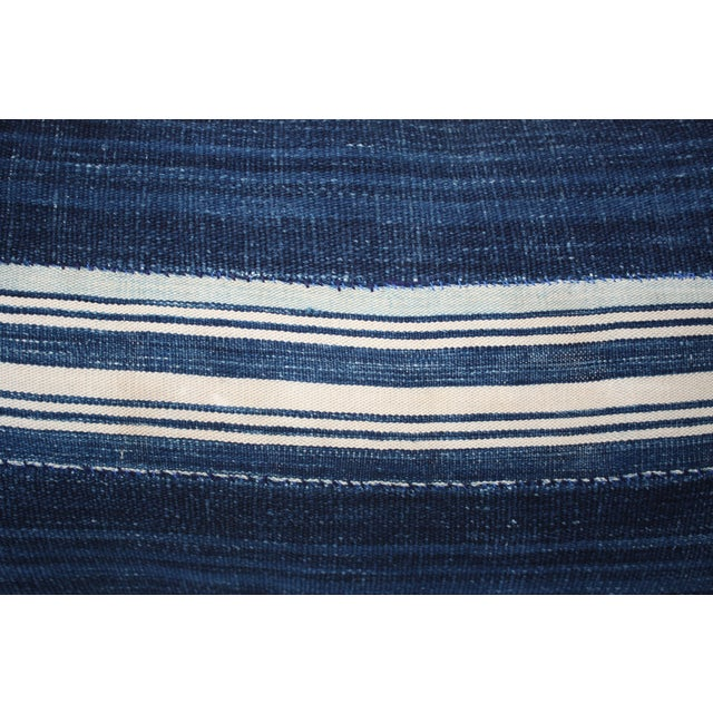 Vintage Mali Indigo Textile Pillow - Image 4 of 5