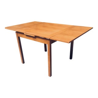 Vintage Danish Modern Table With Extensions For Sale