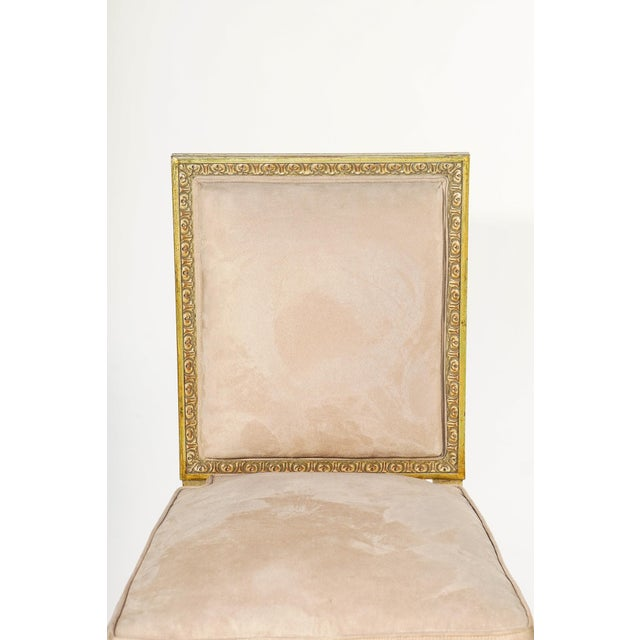 French 19th C. French Giltwood Chairs - a Pair For Sale - Image 3 of 5