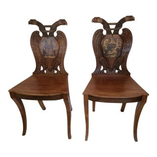 Habsburg Eagle Side Chairs - A Pair
