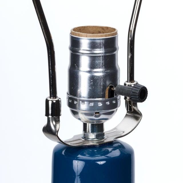 Casa Cosima Casa Cosima Double Gourd Table Lamp, Prussian Blue/Black Shade For Sale - Image 4 of 7