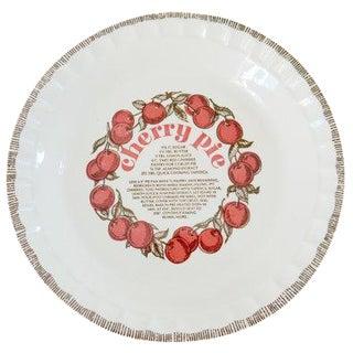 Country Harvest Cherry Pie Baking Dish