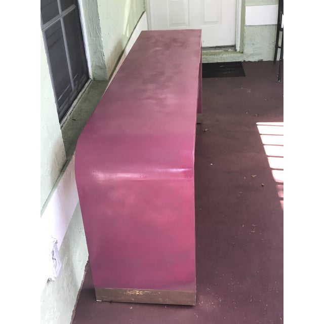 Paint 1970s Art Deco Style Pink Waterfall Console For Sale - Image 7 of 8