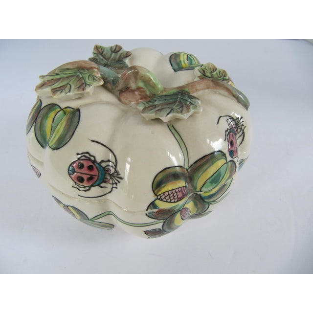 Chinoiserie Vintage Chinoiserie Porcelain Pumpkin From Charles Willis Atlanta For Sale - Image 3 of 9