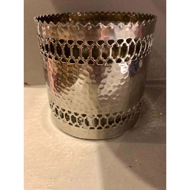 1950s Silver Pierced Bottle Coaster For Sale - Image 5 of 6