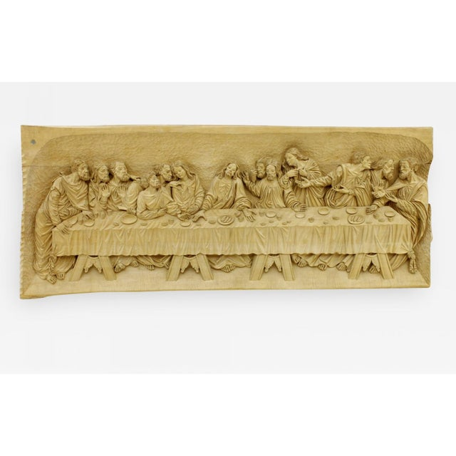 """""""The Last Supper"""" Wood Carving Relief Masterpiece by Emrich Mussner, 1976 For Sale - Image 11 of 11"""