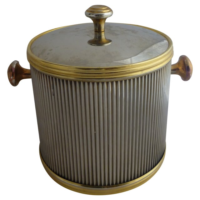 Vintage Brass & Chrome Ice Bucket - Image 1 of 7