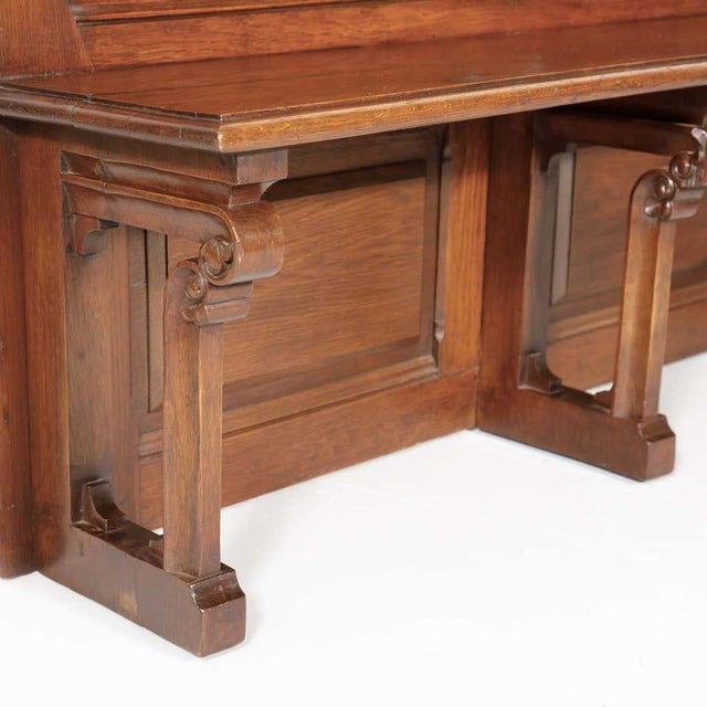 19th Century French Gothic Revival Period Church Pew or Hall Bench For Sale - Image 11 of 13