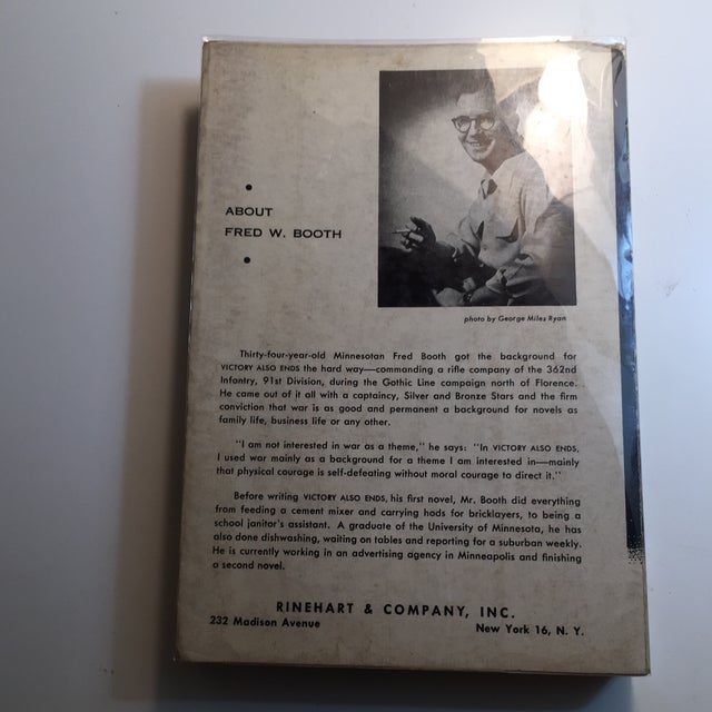"1952 Fred W. Booth ""Victory Also Ends"" Book For Sale In New York - Image 6 of 7"