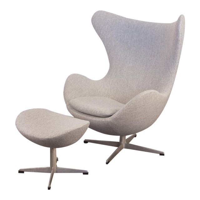 Arne Jacobsen Egg Chair and Ottoman - Image 1 of 11
