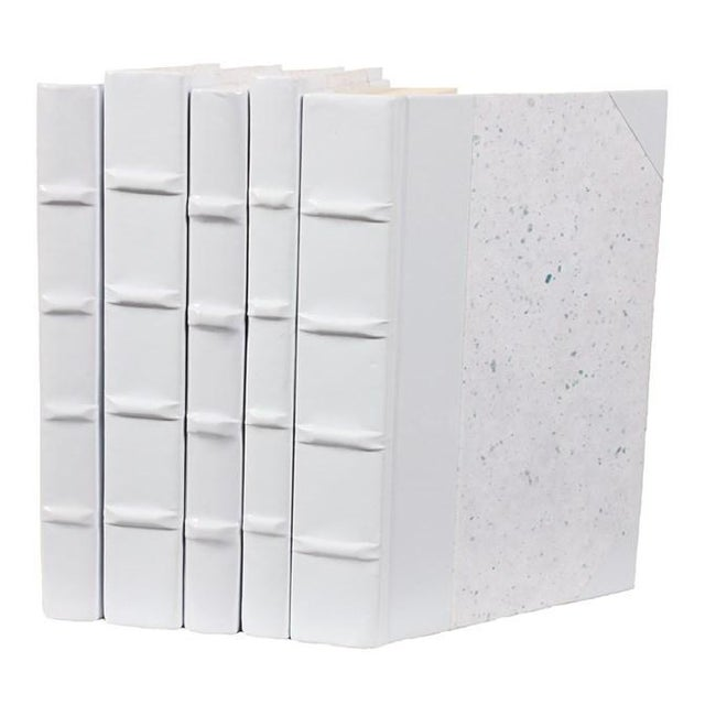 White Patent Leather Books - Set of 5 - Image 1 of 2