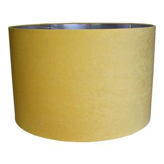 Custom Yellow Velvet Drum Lamp Shade For Sale