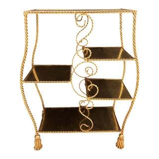 Hollywood Regency Style Gilt Brass Étagère by Jansen For Sale