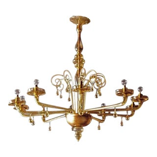 Early 20th Century Antique Chandelier Attributed to Carlo Scarpa/Vittorio Zecchin For Sale