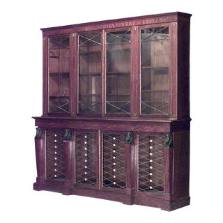 English Regency Mahogany Bookcase For Sale