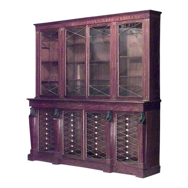 English Regency Mahogany Bookcase For Sale