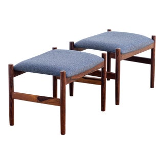 Spottrup Danish Modern Rosewood Ottomans - a Pair For Sale