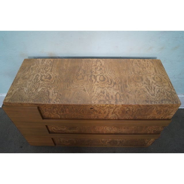 Mid-Century Burl Wood Dressers - A Pair For Sale - Image 9 of 10