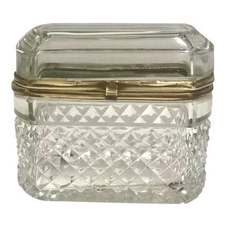 Baccarat French Crystal Box For Sale