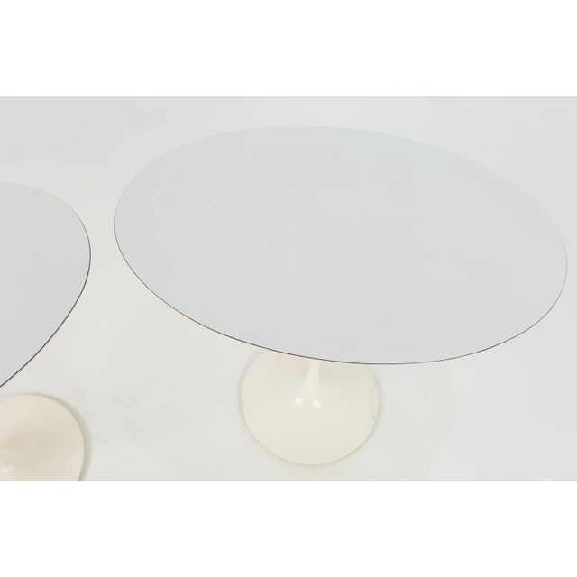 Metal 1960s Mid Century Modern Eero Saarinen for Knoll Oval Tulip Side Tables - a Pair For Sale - Image 7 of 9