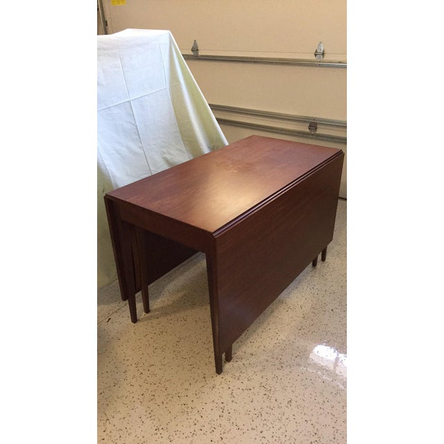 Drop-Leaf Mahogany Dining Table - Image 2 of 4