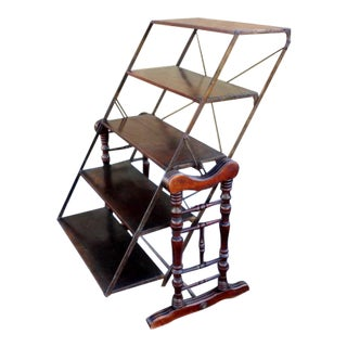 Edwardian Early Industrial Bookshelf or Etagere For Sale
