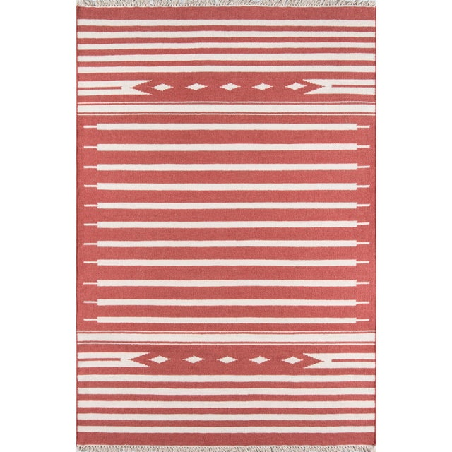 """Contemporary Erin Gates Thompson Billings Red Hand Woven Wool Area Rug 7'6"""" X 9'6"""" For Sale - Image 3 of 3"""
