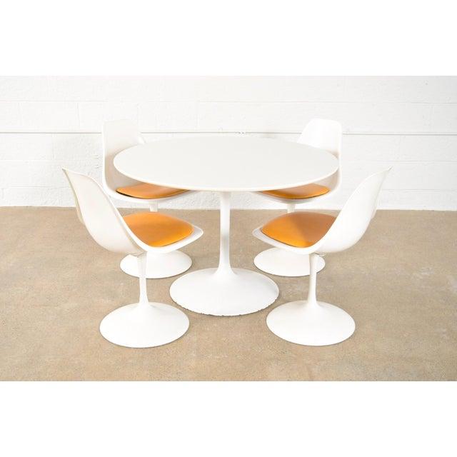 Mid-Century Saarinen Style Tulip Pedestal Dining Set - Set of 5 - Image 3 of 11