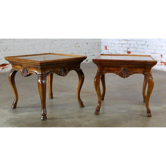 What an incredible pair of vintage side tables. This pair is from the Brittiany collection for Heritage, that's Drexel...