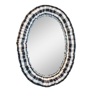 Gingham-Check Mirror