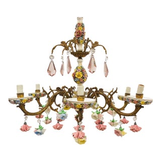 Antique Floral Chandelier For Sale