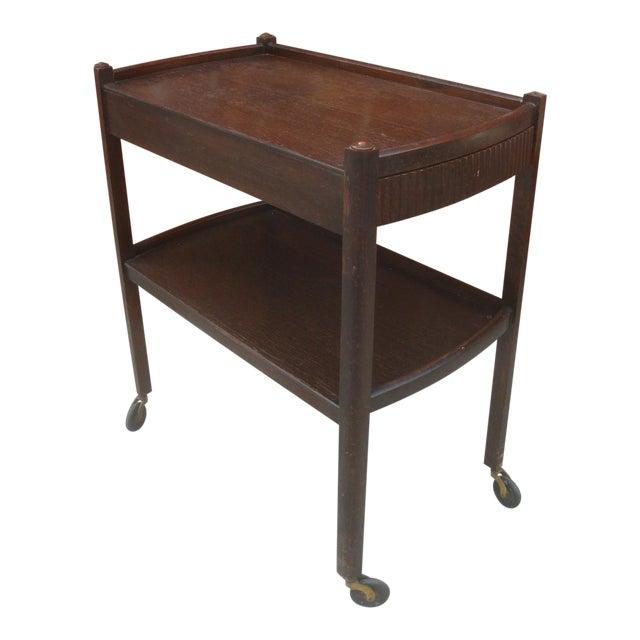 Vintage Streamline Moderne Tea Cart or Bar Cart Art Deco For Sale