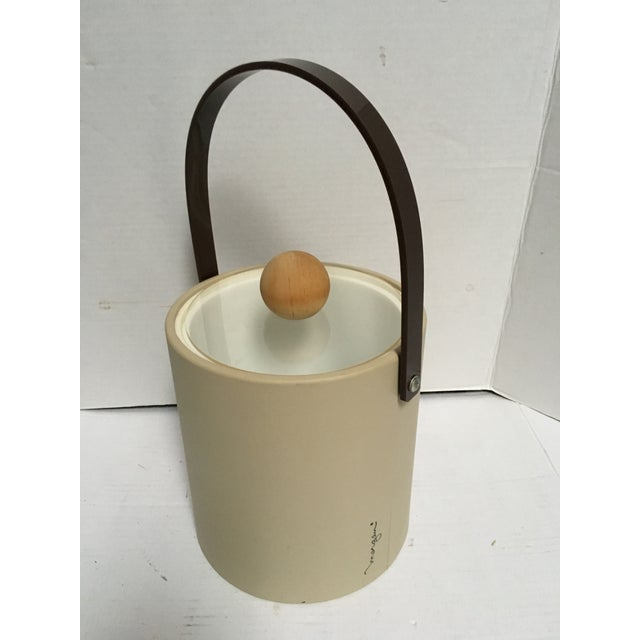 Mid-Century Modern Vintage Morgan Bucket Brigade Ice Bucket For Sale - Image 3 of 11