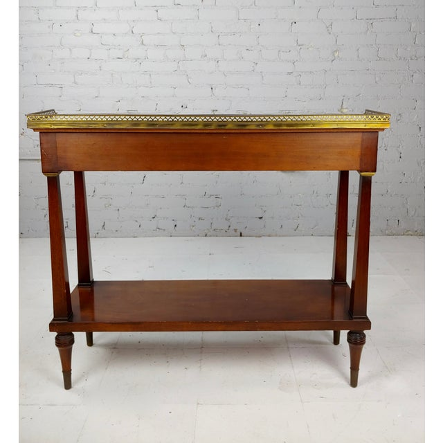 Stone French Style Vintage Marble Top Credenza Console Table For Sale - Image 7 of 8