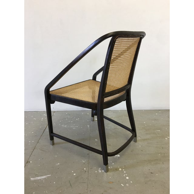 Wood Josef Hoffmann Caned Side Chair For Sale - Image 7 of 13
