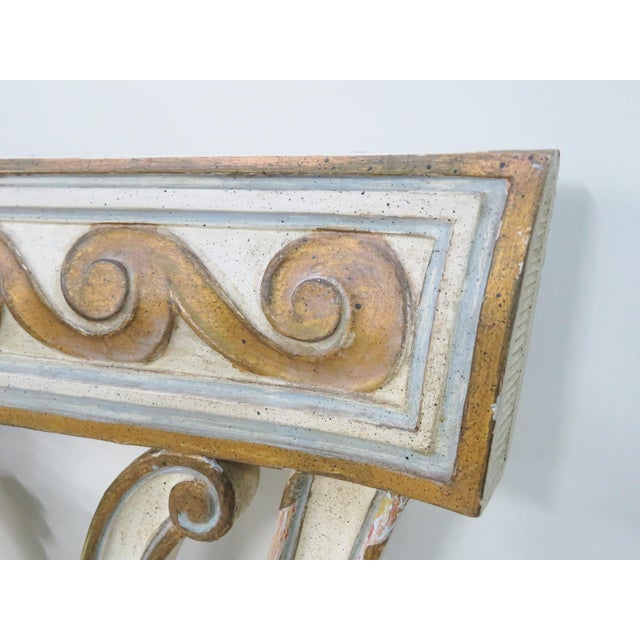 Wood Italian Carved Cream King Headboard For Sale - Image 7 of 11