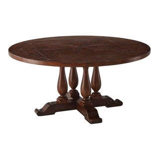 Rustic Circular Dining Table For Sale