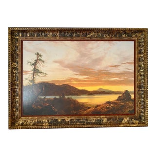 Sunset by Frederic Edwin Church Canvas Giclee, Framed For Sale