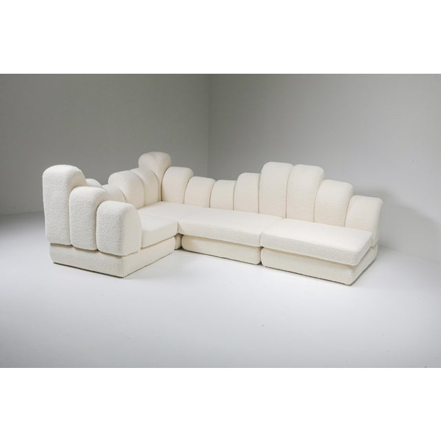 Hans Hopfer 'Dromedaire' Sectional Sofa in Pierre Frey Wool, Roche Bobois - 1974 For Sale - Image 4 of 12