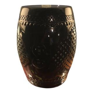 Black Asian Porcelain Stool