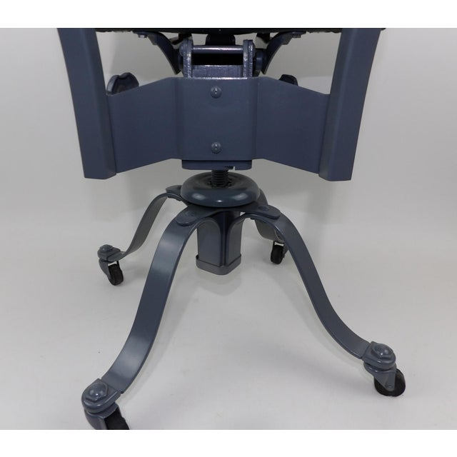 Gray Remington Rand Mid-Century Adjustable Mechanical Age Industrial Office Chair For Sale - Image 8 of 11