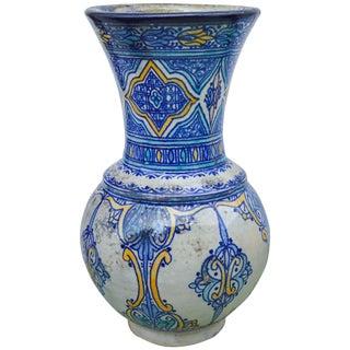 Antique Moorish-Patterned Vase For Sale