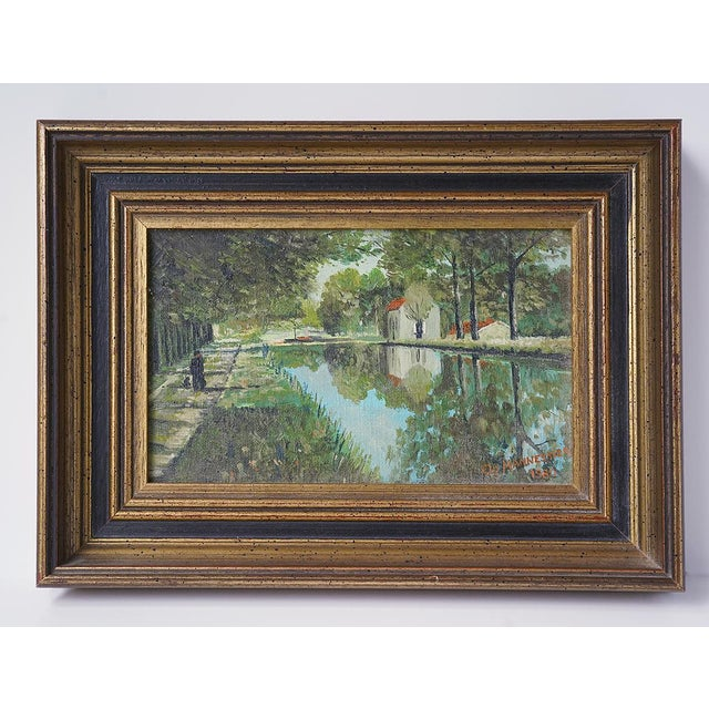 Traditional 1980s French Landscape Painting For Sale - Image 3 of 3